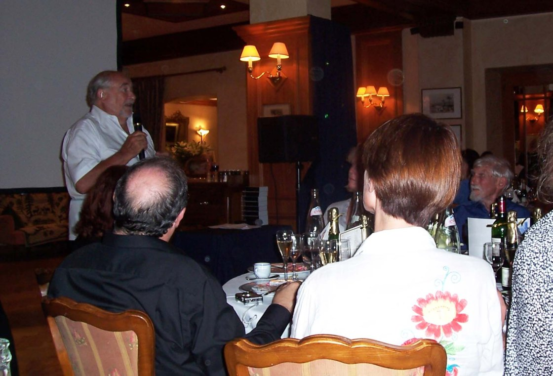 John Coates give a speech in Annecy 2007_Jack Stokes looking on