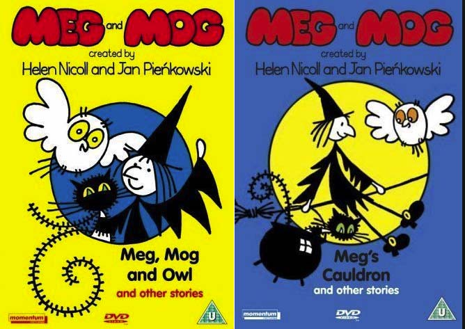 Meg and Mog DVD front covers